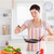 gülümseyen · kadın · pişirme · mutfak · kadın · gıda · gülümseme - stok fotoğraf © wavebreak_media