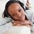 młoda · kobieta · sofa · muzyki · szczęścia - zdjęcia stock © wavebreak_media