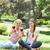 mosolyog · női · barátok · szemüveg · vörösbor · park - stock fotó © wavebreak_media