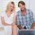 cute young couple sitting on floor using laptop stock photo © wavebreak_media
