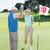 férfi · nő · pár · golf · golfpálya · mosolyog - stock fotó © wavebreak_media