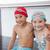 cute little kids sitting poolside stock photo © wavebreak_media