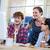 sorridente · parceria · computador · escritório · homem - foto stock © wavebreak_media