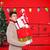 белый · красный · рождественская · елка · пустой · комнате · украшенный - Сток-фото © wavebreak_media