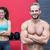 muskuläre · Paar · schauen · Kamera · Mann · vor - stock foto © wavebreak_media