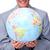 zakenman · wereldbol · witte · glimlach - stockfoto © wavebreak_media