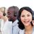 séduisant · femme · d'affaires · équipe · travail · centre · d'appel · blanche - photo stock © wavebreak_media