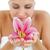 ярко · женщину · цветок · белый · рук · здоровья - Сток-фото © wavebreak_media