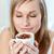belle · femme · tasse · espresso · café · blanche · femme - photo stock © wavebreak_media