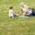 família · sessão · grama · jogar · brinquedos · feliz - foto stock © wavebreak_media