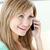 kadın · telefon · mutfak · ev · gülümseme - stok fotoğraf © wavebreak_media