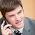 gelukkig · jonge · zakenman · praten · mobiele · telefoon · business - stockfoto © wavebreak_media