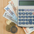 geld · zak · calculator · bureau · school · achtergrond - stockfoto © wavebreak_media
