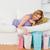 attrattivo · donna · divano · shopping · ragazza · sorriso - foto d'archivio © wavebreak_media