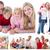 kollázs · család · idő · együtt · otthon · ház - stock fotó © wavebreak_media