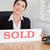 uśmiechnięty · sprzedany · płyta · biuro · domu - zdjęcia stock © wavebreak_media