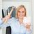 gelukkig · vrouw · spaarvarken · kantoor · geld · bank - stockfoto © wavebreak_media
