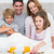 family having breakfast stock photo © wavebreak_media