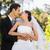 wedding · bacio · parco · lo · sposo · sposa - foto d'archivio © wavebreak_media
