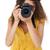 fotograaf · geïsoleerd · witte · oog · gezicht · werk - stockfoto © wavebreak_media