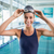 mooie · jonge · vrouw · permanente · zwembad · vrouw · water - stockfoto © wavebreak_media
