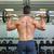 muscular · homem · barbell · sem · camisa - foto stock © wavebreak_media