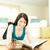 брюнетка · женщину · чтение · журнала · полу - Сток-фото © wavebreak_media