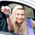 conductor · mujer · nuevos · coche · claves · conducción - foto stock © wavebreak_media