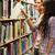 fiatal · diákok · könyvtár · nő · pár · oktatás - stock fotó © wavebreak_media