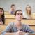 studentów · słuchania · wykład · amfiteatr · szczęśliwy · farbują - zdjęcia stock © wavebreak_media