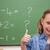 iskolás · lány · hüvelykujj · felfelé · iskolatábla · iskola · diák - stock fotó © wavebreak_media