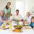 Family having meal at dining table stock photo © wavebreak_media