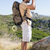 férfi · hátizsák · néz · látcső · kint · vonzó - stock fotó © wavebreak_media