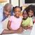 portré · mosolyog · testvérek · laptop · konyha · otthon - stock fotó © wavebreak_media