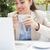 счастливым · женщины · ноутбука · за · пределами · портрет - Сток-фото © wavebreak_media