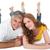 casual · casal · piso · branco · mulher · feminino - foto stock © wavebreak_media