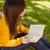 случайный · студент · чтение · книга · портрет · Cute - Сток-фото © wavebreak_media