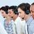 geconcentreerde · zakenlieden · hoofdtelefoon · call · center · computer · gelukkig - stockfoto © wavebreak_media