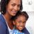 sorridente · mãe · little · girl · casa · menina · mão - foto stock © wavebreak_media