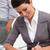 vonzó · üzletasszony · jegyzetel · megbeszélés · üzlet · nő - stock fotó © wavebreak_media