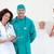 idős · beteg · orvosi · csapat · kórház · mosolyog - stock fotó © wavebreak_media