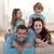 ouders · dochter · zoon · vloer · woonkamer · gezicht - stockfoto © wavebreak_media