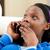 tinédzser · beszél · telefon · kanapé · lány · nők - stock fotó © wavebreak_media
