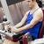 ernstig · atletisch · man · been · druk · gewichten - stockfoto © wavebreak_media