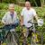 érett · pár · sétál · biciklik · mosoly · hegy - stock fotó © wavebreak_media
