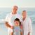 grands-parents · petit-fils · plage · femme · famille · coucher · du · soleil - photo stock © wavebreak_media