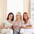 tre · donne · soggiorno · parlando · sorridere · donna - foto d'archivio © wavebreak_media
