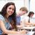 Porträt · glücklich · schriftlich · Klassenzimmer · Frau - stock foto © wavebreak_media
