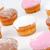 muffinok · porcukor · fehér · háttér · eszik · édes - stock fotó © wavebreak_media