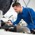 mecánico · tableta · coche · reparación · del · coche · garaje · servicio - foto stock © wavebreak_media